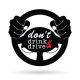 Dont drink and drive icon illustration Royalty Free Stock Image