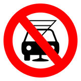 Dont drink and drive sign Royalty Free Stock Photography