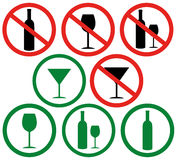 Dont drink. Vector illustration (EPS 10 Royalty Free Stock Photos