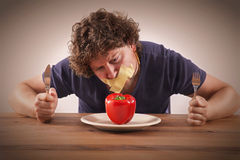 Dont eat vegetables Stock Photography