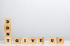 Dont Give Up Spelled in Letter Blocks Stock Photo