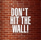 Dont hit the the wall concept Stock Photography