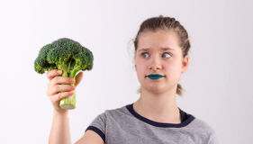 Dont like vegetable Royalty Free Stock Photos