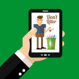 Dont litter ads. This is Dont litter ads design. Vector file Stock Images