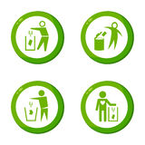 Dont litter icon. This is dont litter icon design.   file Stock Photography