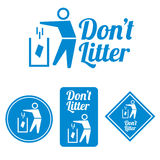 Dont litter icon. This is Dont litter icon design. Vector file Royalty Free Stock Photo