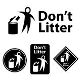 Dont litter icon. This is dont litter icon design. Vector file Stock Images