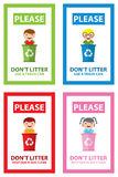 Dont litter icon. This is dont litter icon design. Vector file Royalty Free Stock Images