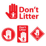 Dont litter icon. This is dont litter icon design. Vector file Stock Image