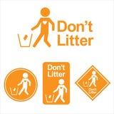 Dont litter logo. This is dont litter logo design. Vector file Stock Photos