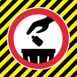 Dont litter sign. This is dont litter sign design.  file Stock Photo