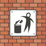 Dont litter sign. This is dont litter sign design.  file Royalty Free Stock Photography