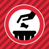 Dont litter sign. This is dont litter sign icon design.  file Royalty Free Stock Photo