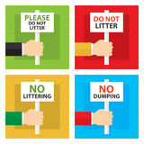 Dont litter signboard. This is dont litter signboard design. Vector file Stock Photos