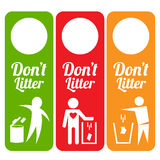 Dont litter tag. This is dont litter tag design. Vector file Royalty Free Stock Photos