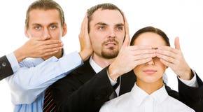 Don�t look, don�t listen, don�t speak Stock Photos