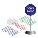 Don't panic Royalty Free Stock Image