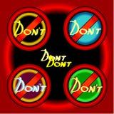 Dont push. Button. Key computer stop. Dont push. Button. Red Key computer stop Royalty Free Stock Images