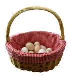 Dont put all your eggs in one basket. Illustrates the old saying Don�t put all your eggs in one basket. This image contains a clipping path Royalty Free Stock Images