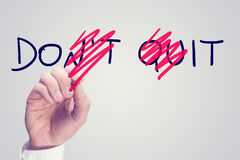 Dont Quit - Do It Royalty Free Stock Images