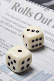Don't roll of the dice with your future Royalty Free Stock Photo