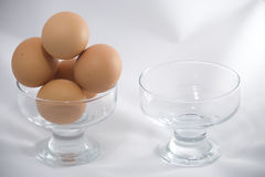 Dont store all eggs in one bowl Stock Photography