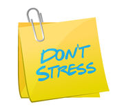 Dont stress post illustration design Stock Image