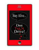 Dont Text and Drive Concept Royalty Free Stock Photo