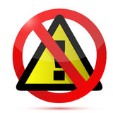 Dont warning sign illustration design Royalty Free Stock Photo
