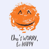 Dont worry be happy Stock Photography