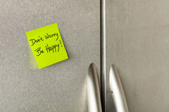 Dont worry note Royalty Free Stock Photos