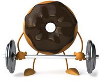 Donut. Fun 3D donut, 3d generated picture Stock Photo