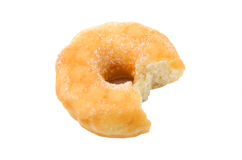 Donut. Bite isolated on white background royalty free stock image