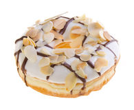 Donut, almond donut on background Stock Photography