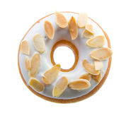 Donut, almond donut on background Stock Photos