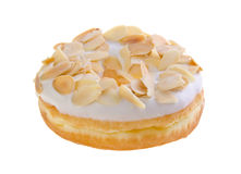 Donut, almond donut on background Stock Images