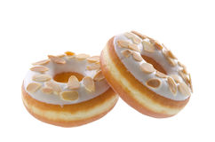 Donut, almond donut on background Stock Photography