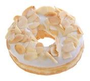 Donut, almond donut on background Royalty Free Stock Photo