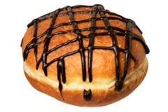Donut Berliner Pfannkuchen with chocolate stock images