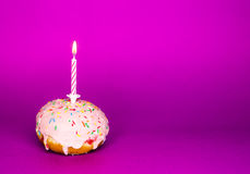 Donut for birthday Royalty Free Stock Photo