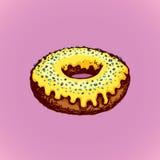 Donut Blumenhintergrund mit Gras Lizenzfreies Stockbild
