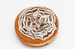 Donut with brown and white chocolate sugar powder. Hanukkah holiday Royalty Free Stock Images