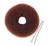 Donut bun maker with hairpin isolated on white top view Royalty Free Stock Photography