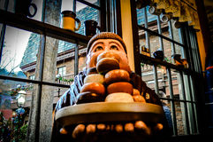 Donut Cafe Monk Statue Stock Photos