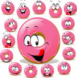 Donut cartoon Royalty Free Stock Photos