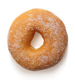 Donut. With caster sugar on white background Stock Photography