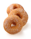 Donut. With caster sugar on white background Stock Photos