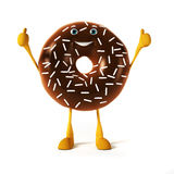 Donut character Royalty Free Stock Photo