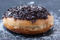 Donut with chocolate Stock Photos