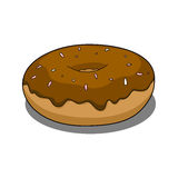 Donut with chocolate coating Stock Photos